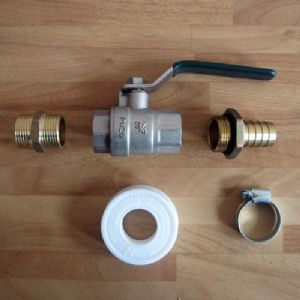 "Tap Kit For Water/Fuel Tanks With ¾"" Thread & Hose Tail"